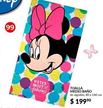 Oferta de Toallas Disney medio baño por $199.9