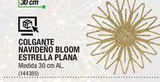 Oferta de Colgante Navideño Bloom Estrella Plana por