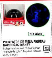 Oferta de Proyector De Mesa Figuras Navideñas Disney por