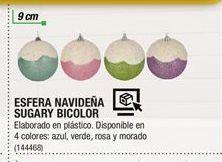 Oferta de Esfera Navideña Sugary Bicolor por