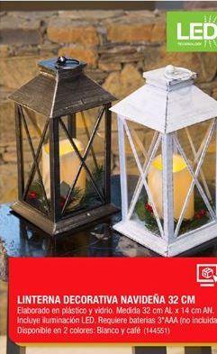 Oferta de Linterna Decorativa navideña por