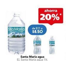 Oferta de Agua Santa María por $8.5