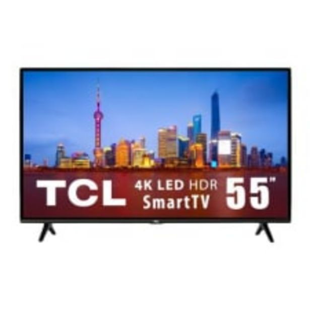 Oferta de TV TCL 55 Pulgadas 4K Ultra HD Smart TV LED 55A421 por $9799