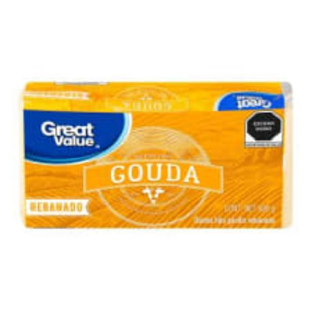 Oferta de Queso tipo gouda Great Value rebanado 600 g por $90