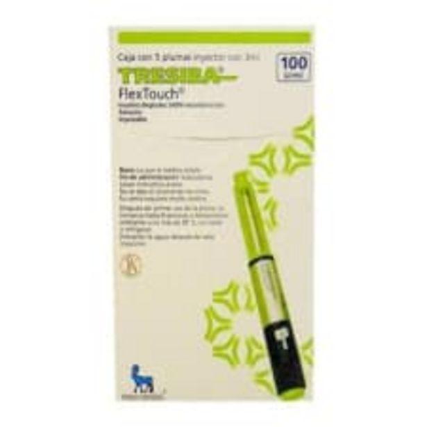 Oferta de Tresiba Flex Touch 100 U/ml 5 plumas inyector con 3 ml por $3276