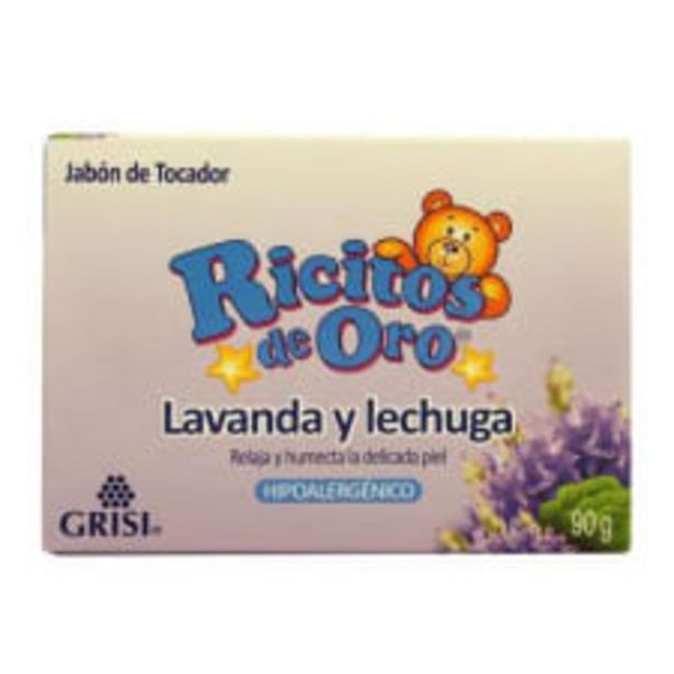 Oferta de Jabón de tocador Ricitos de Oro lavanda y lechuga hipoalergénico 90 g por $12.5