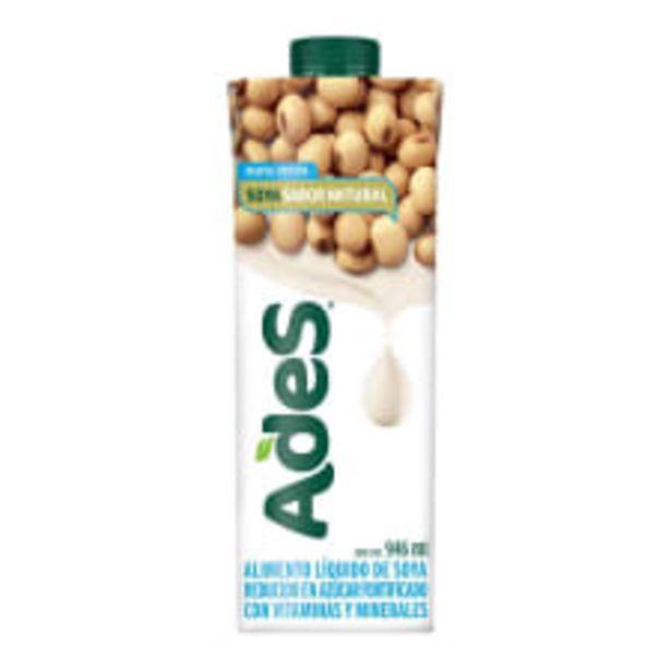 Oferta de Alimento líquido AdeS de soya sabor natural reducido en azúcar 946 ml por $27.9