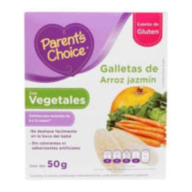 Oferta de Galletas de arroz jazmín Parent s Choice con vegetales 50 g por $45