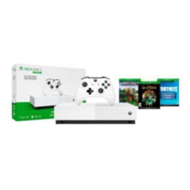 Oferta de Consola Xbox One S 1TB Edición All-Digital con 3 Códigos de Juegos por $6299