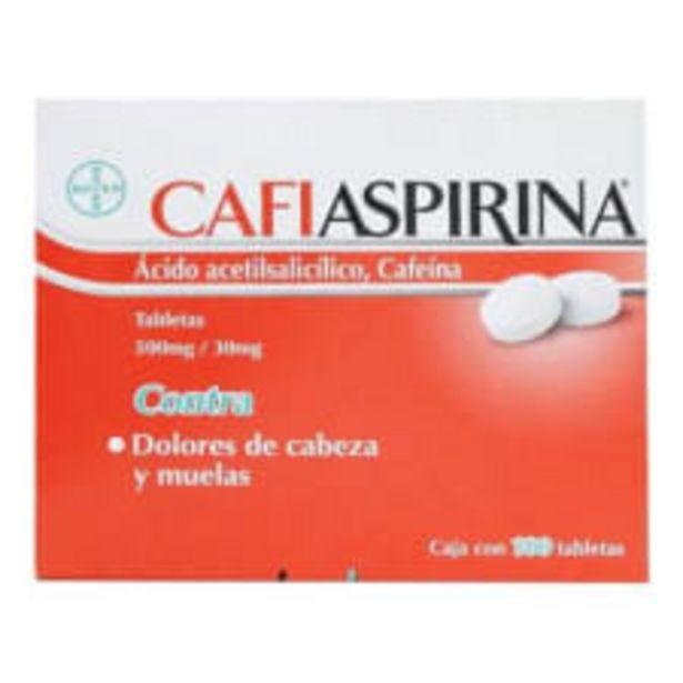 Oferta de Analgésico Cafiaspirina 100 tabletas ácido acetilsalicílico 500 mg cafeína 30 mg por $94