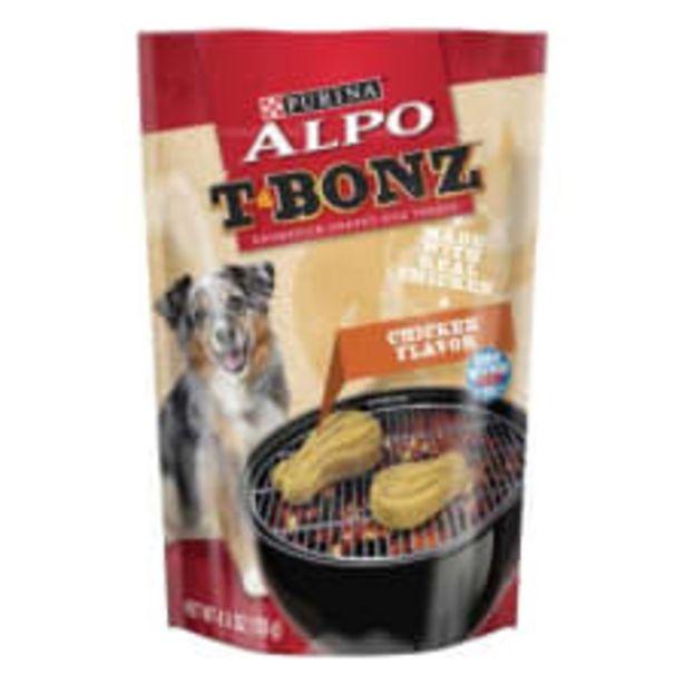 Oferta de Premio para perro Alpo T-Bonz sabor pollo 128 g por $51.01