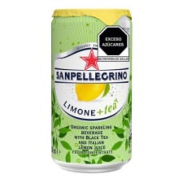 Oferta de Bebida gasificada San Pellegrino orgánica con té negro y jugo de limón 250 ml por $24