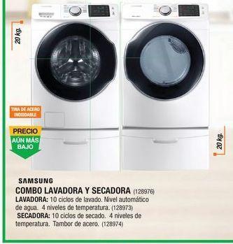 Oferta de Combo Lavadora Y Secadora Samsung por