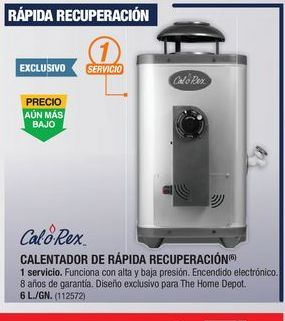 Oferta de Calentador de  agua Calorex por