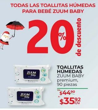 Oferta de Toallitas húmedas para bebé Zuum baby por $35.92
