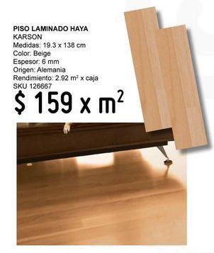 Oferta de Piso Laminado Haya Karson por $159