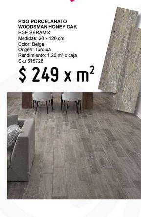 Oferta de Piso Porcelanato Woodsman Honey Oak Ege Seramik por $249