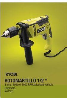 """Oferta de Rotomartillo 1/2"""" Ryobi por"""