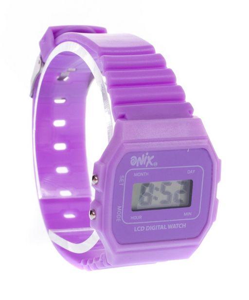 Oferta de Reloj Retro Morado por $74