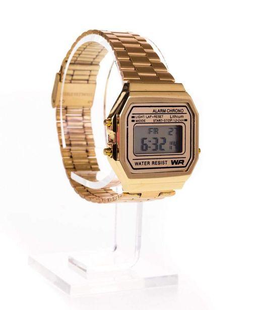 Oferta de Reloj Retro Dorado por $119