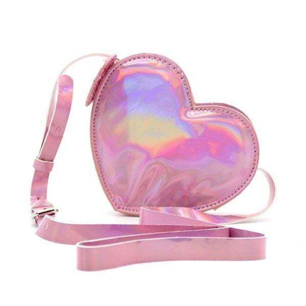 Oferta de Crossbody Heart Tornasol Rosa por $99