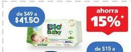 Oferta de Toallitas húmedas para bebé Bio Baby por $41.5