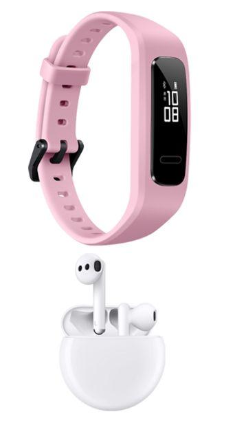 Oferta de Huawei Band 4 color Rosa + Huawei Freebuds 3 Blancos por $3099