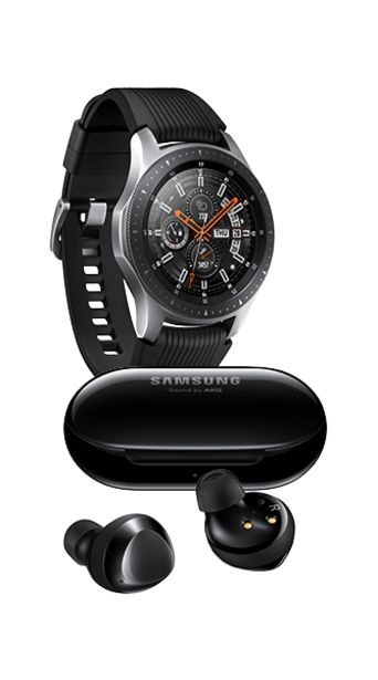 Oferta de Samsung Galaxy Watch 46mm color Plata + Galaxy Buds Plus Negros por $5500