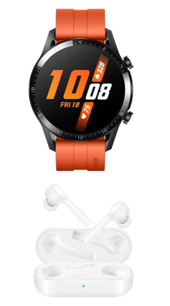 Oferta de Huawei Watch GT2 color Naranja + Freebuds Lite Blancos por $6898