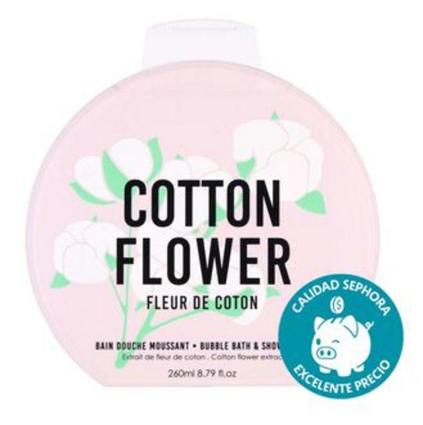 Oferta de BUBBLE BATH & SHOWER GEL COTTON FLOWER 260ML por $151