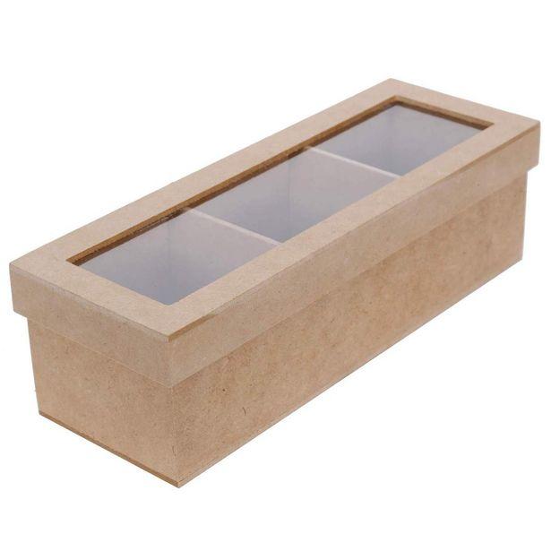 Oferta de  Caja 3 Divisiones 7x24x8cm por $58.55