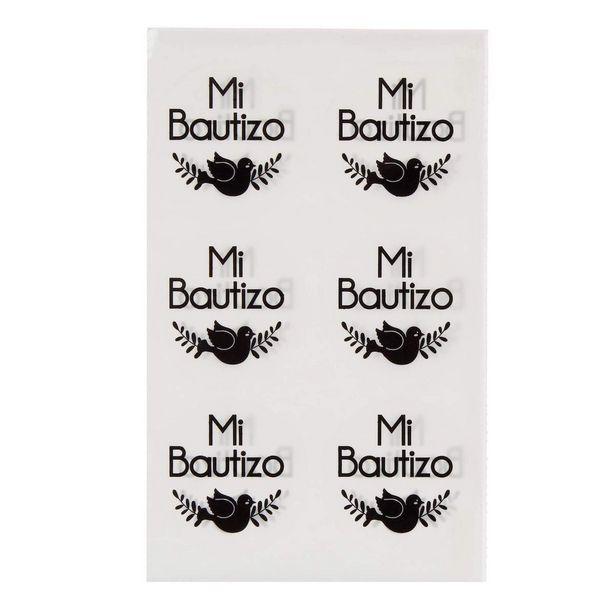 Oferta de  Calcomanía Mi Bautizo 4.5cm 12pz por $17.55