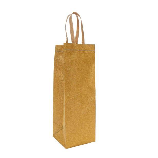 Oferta de  Bolsa Ecológica Diamantada Para Vino 36x12x12cm 1pz por $29.1