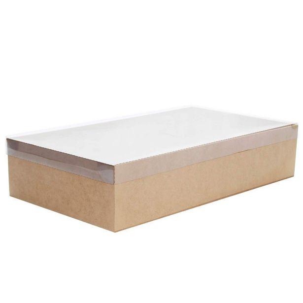 Oferta de  Caja Con Tapa Transparente Natural 10x45x25cm 1pz por $114.6