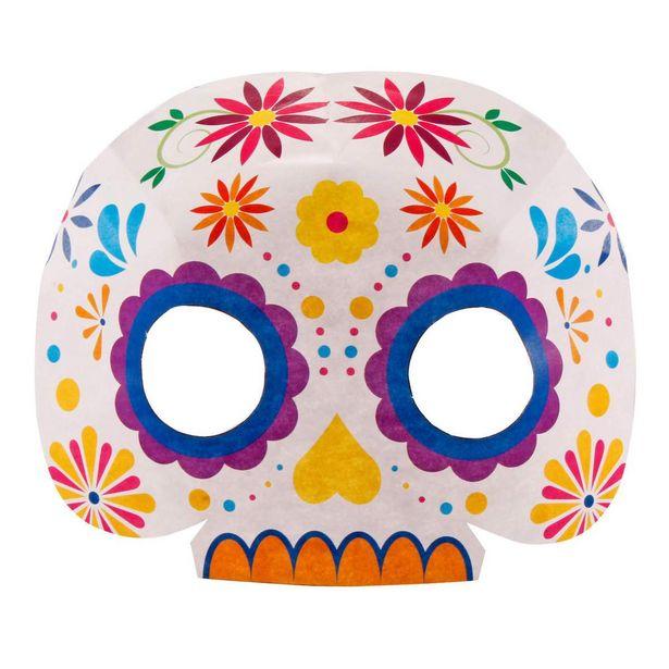 Oferta de  Mascara Armable Calavera 14x17cm 6pz por $35.35