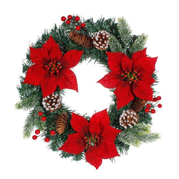 Oferta de  Corona Navidad Decorada 45cm 1pz por $368.4