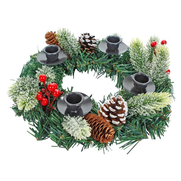 Oferta de  Centro De Mesa Navidad Decorado 30cm 1pz por $278.35