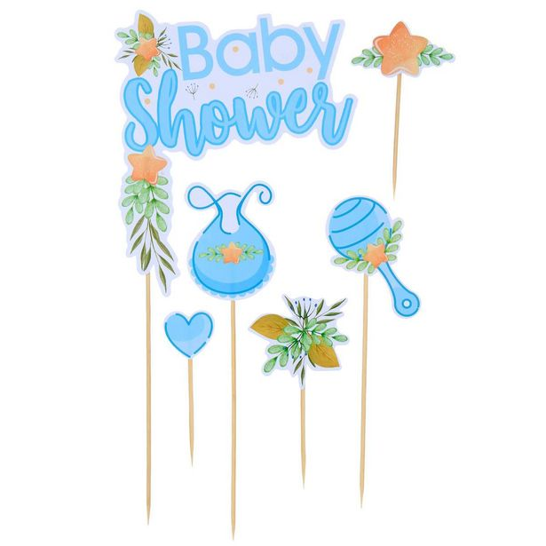Oferta de  Adorno Pick Baby Shower Color  6pz por $24.15