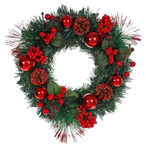 Oferta de  Corona Navidad Decorada 40cm 1pz por $331.55
