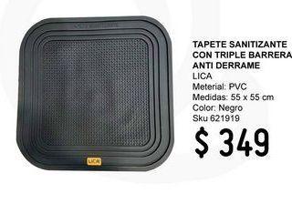 Oferta de Tapete Sanitizante Con Triple Barrera Anti Derrame por $349