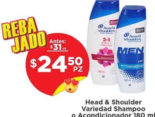 Oferta de Shampoo Head & Shoulders por $24.5