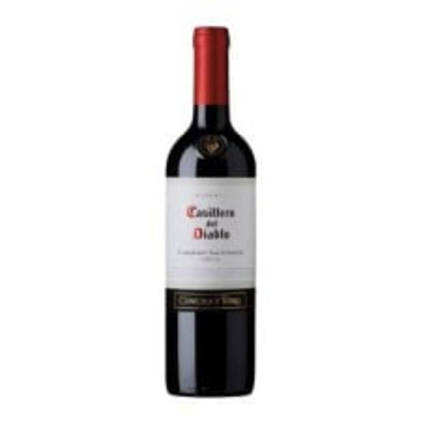 Oferta de Vino Tinto Concha y Toro Casillero del Diablo Cabernet Sauvignon 750 ml por $206
