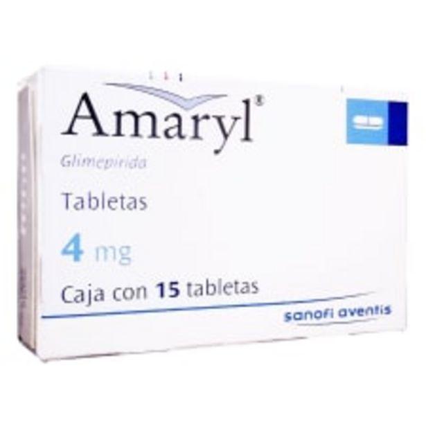 Oferta de Glimepirida Amaryl 4 mg 15 tabletas por $503