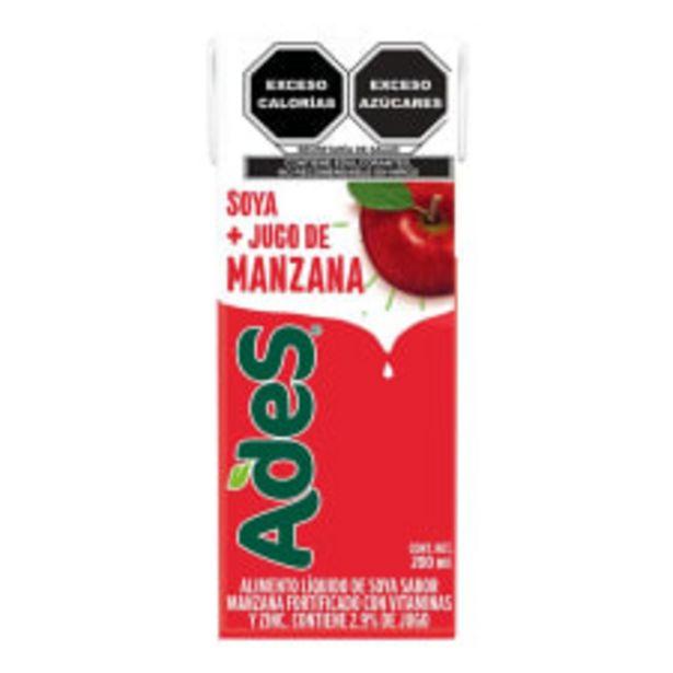 Oferta de Alimento liquido de soya AdeS sabor manzana 200 ml por $6.5