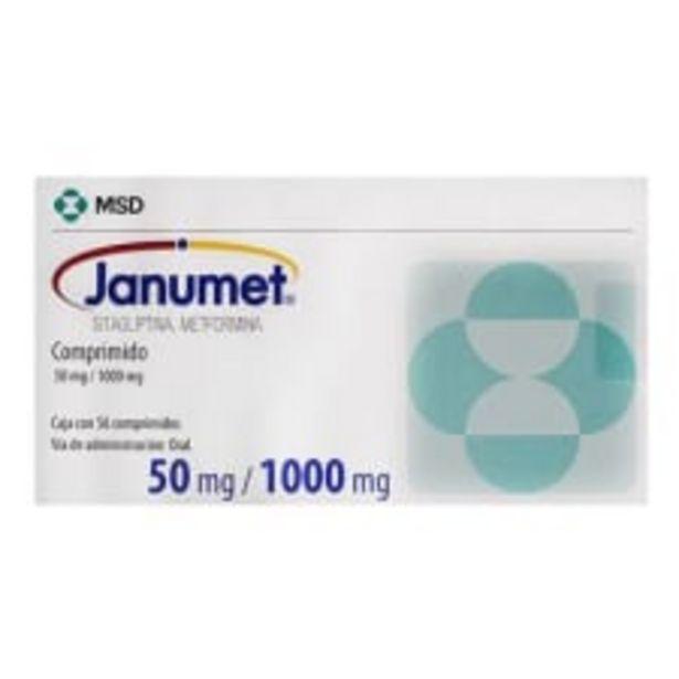Oferta de Janumet 50 mg/1000 mg 56 comprimidos por $955