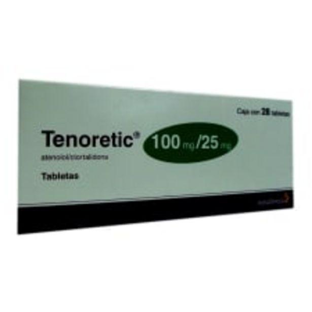 Oferta de Tenoretic tabletas 100 mg/25 mg 28 pzas por $625