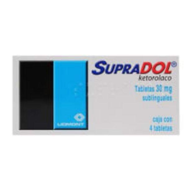 Oferta de Supradol 30 mg 4 tabletas sublinguales por $94.5