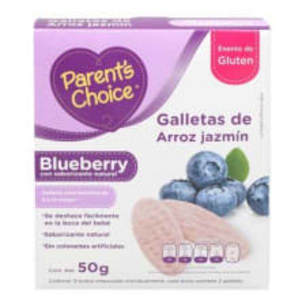 Oferta de Galletas de arroz jazmín Parent's Choice blueberry 50 g por $45