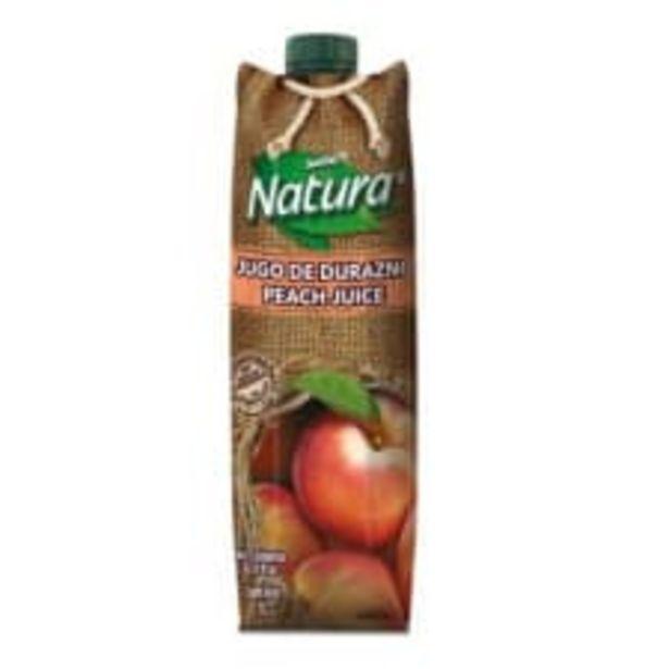 Oferta de Jugo de durazno Natura 1 l por $25.9
