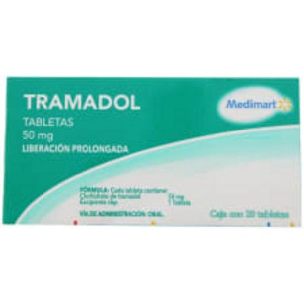 Oferta de Tramadol Medi Mart 50 mg liberación prolongada caja con 20 tabletas por $90